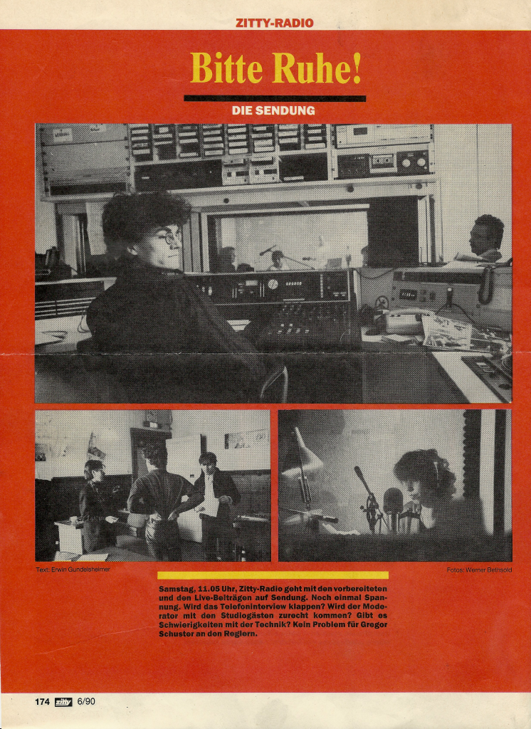 Zittyradio auf Radio 100