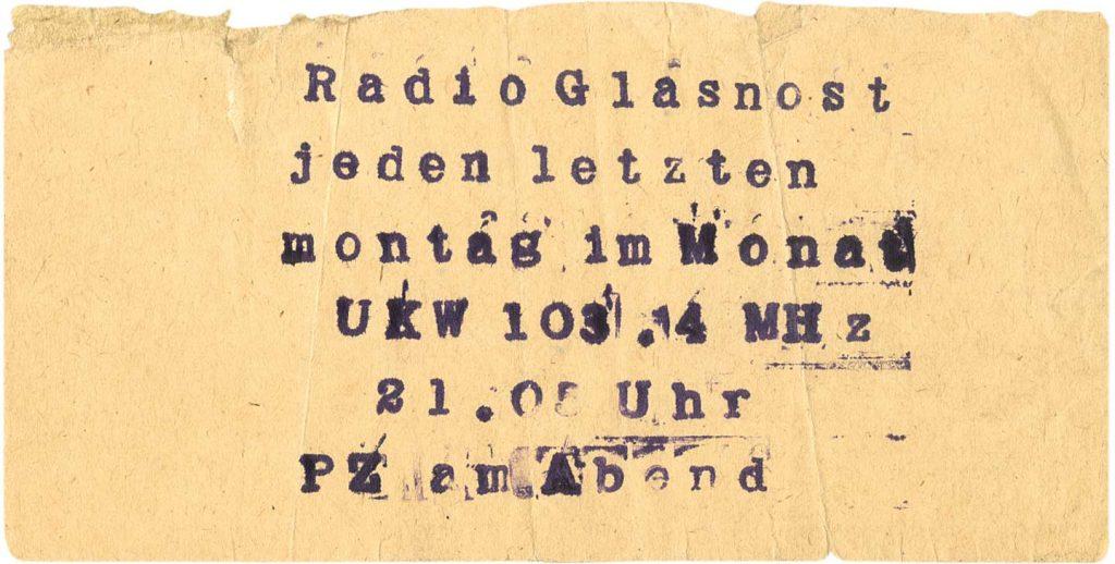 Flyer zur Sendung