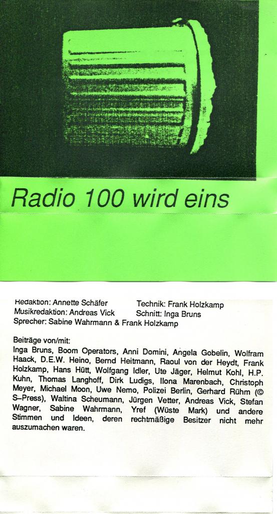 Radio 100 wird eins